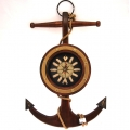 Elegancki zegar - kotwica