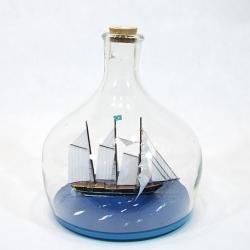Statek w butelce - duży!